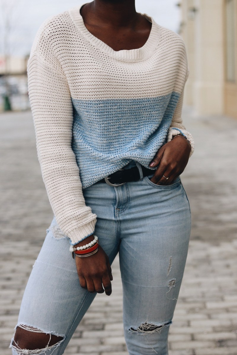 SPRING IN WINTER: LIGHT SWEATER OUTFIT